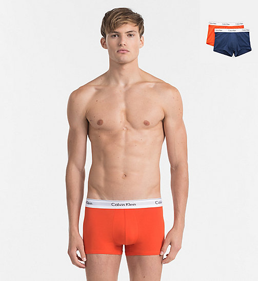 CALVINKLEIN 2 Pack Trunks - Modern Cotton - ORIOLE/ TUSCAN NAVY - CALVIN KLEIN NEW ARRIVALS - main image