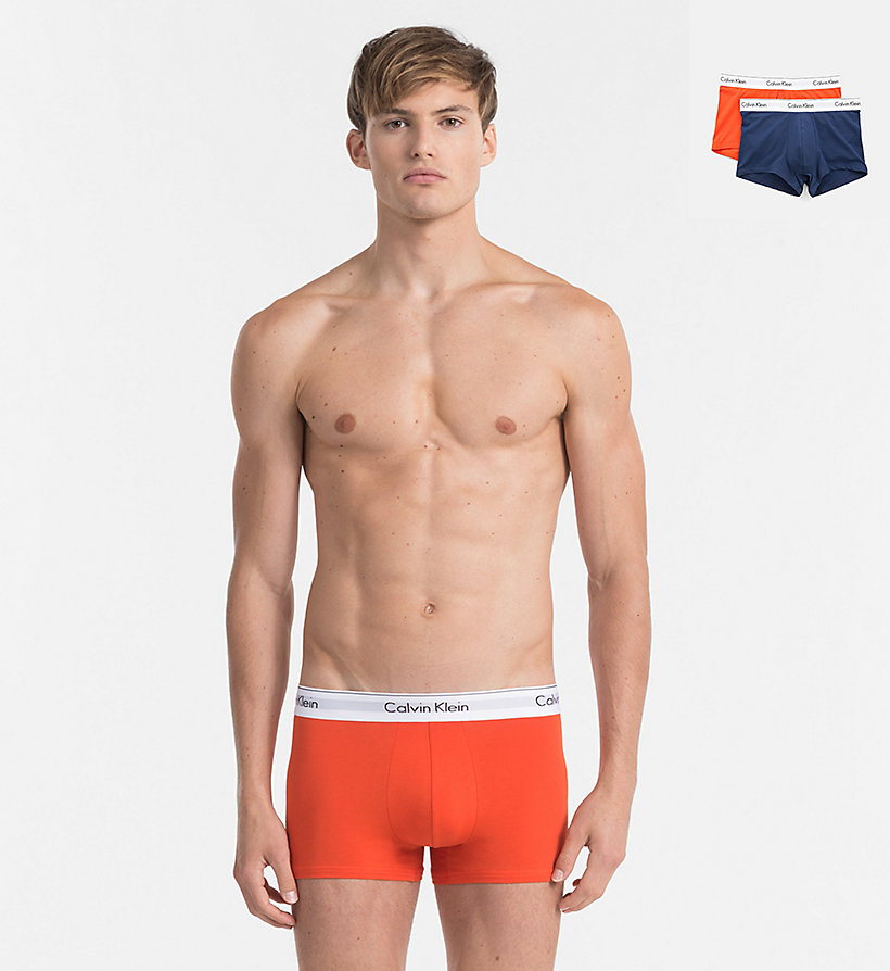 CALVINKLEIN 2 Pack Trunks - Modern Cotton - SPELLBOUND / BLACK - CALVIN KLEIN UNDERWEAR - main image