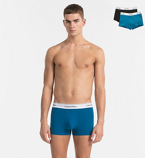 CALVINKLEIN 2 Pack Trunks - Modern Cotton - LAKE TAHOE / BLACK - CALVIN KLEIN NEW ARRIVALS - main image