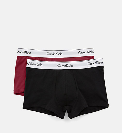 CALVIN KLEIN Lot de 2 boxers - Modern Cotton - HAGUE BLUE/BIKING RED - CALVIN KLEIN SOUS-VÊTEMENTS - image détaillée 1