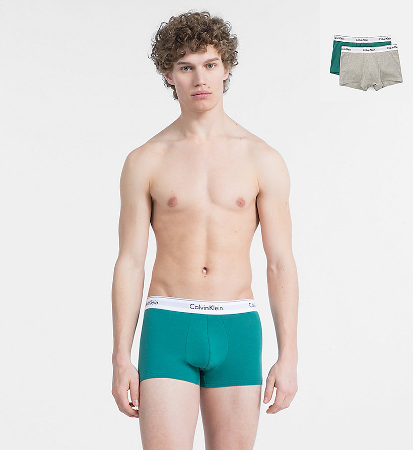 CALVINKLEIN 2 Pack Trunks - Modern Cotton - WHITE - CALVIN KLEIN UNDERWEAR - main image