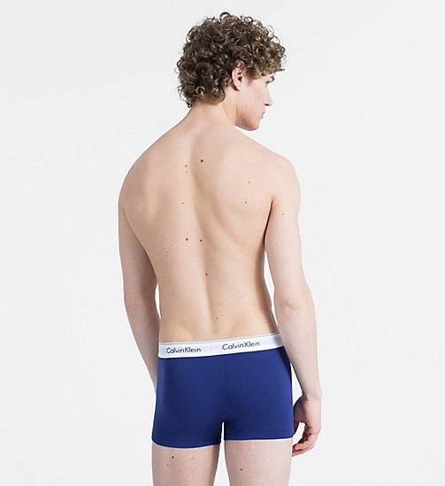 CALVINKLEIN 2 Pack Trunks - Modern Cotton - DARK NIGHT/OATMEAL HEATHER - CALVIN KLEIN NEW FOR MEN - detail image 1