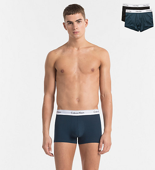 CALVINKLEIN 2 Pack Trunks - Modern Cotton - SPELLBOUND / BLACK - CALVIN KLEIN NEW ARRIVALS - main image