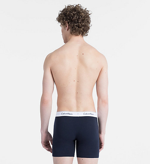 CALVINKLEIN 2 Pack Boxers - Modern Cotton - HAGUE BLUE/BIKING RED - CALVIN KLEIN NEW FOR MEN - detail image 1