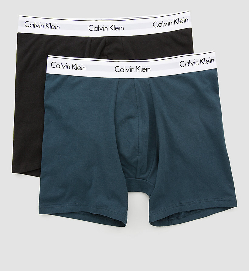 CALVINKLEIN 2 Pack Trunks - Modern Cotton - BLACK - CALVIN KLEIN UNDERWEAR - detail image 1