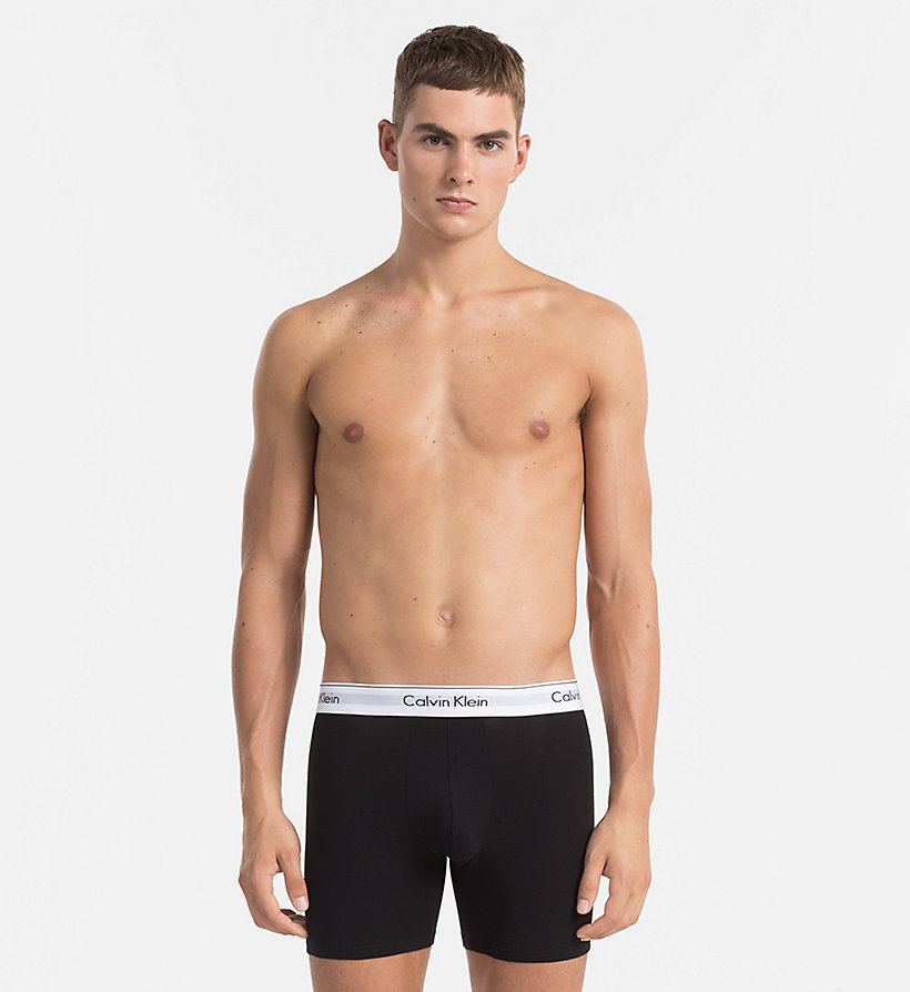CALVINKLEIN 2 Pack Trunks - Modern Cotton - BLACK - CALVIN KLEIN UNDERWEAR - detail image 3