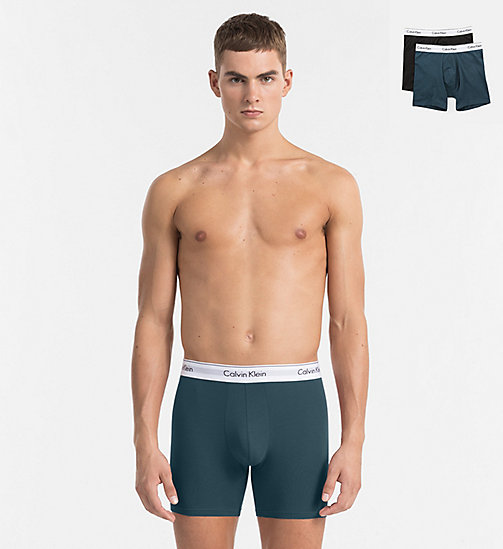 CALVINKLEIN 2 Pack Trunks - Modern Cotton - SPELLBOUND / BLACK - CALVIN KLEIN BOXERS - main image