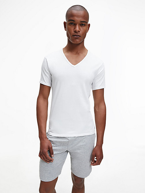 CALVINKLEIN 2 Pack T-shirts - Modern Cotton - WHITE - CALVIN KLEIN LOUNGE TOPS - main image