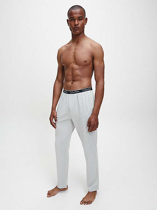 CALVIN KLEIN PJ Pants - CK Sleep - GREY HEATHER - CALVIN KLEIN NIGHTWEAR - detail image 1