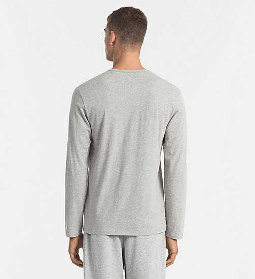 CALVIN KLEIN T-shirt - CK Sleep - GREY HEATHER - CALVIN KLEIN PYJAMA TOPS - detail image 1