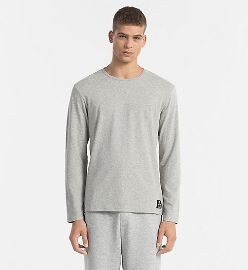 CALVIN KLEIN T-shirt - CK Sleep - GREY HEATHER - CALVIN KLEIN PYJAMA TOPS - main image