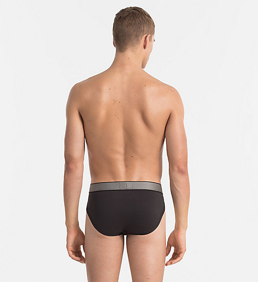 CALVIN KLEIN Hip Briefs - Customized Stretch - BLACK - CALVIN KLEIN BRIEFS - detail image 1