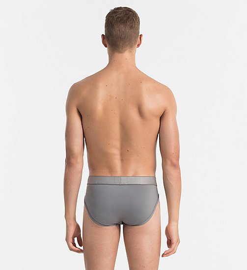 CALVINKLEIN Hip Briefs - Customized Stretch - GREY SKY - CALVIN KLEIN BRIEFS - detail image 1