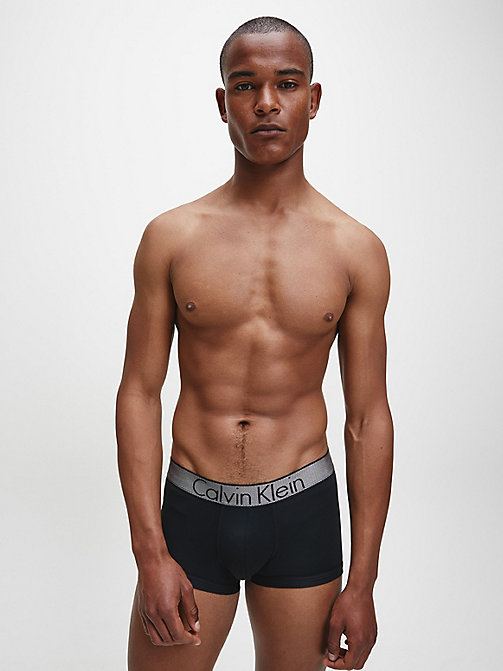 CALVINKLEIN Low Rise Trunks - Customized Stretch - BLACK - CALVIN KLEIN TRUNKS - detail image 1