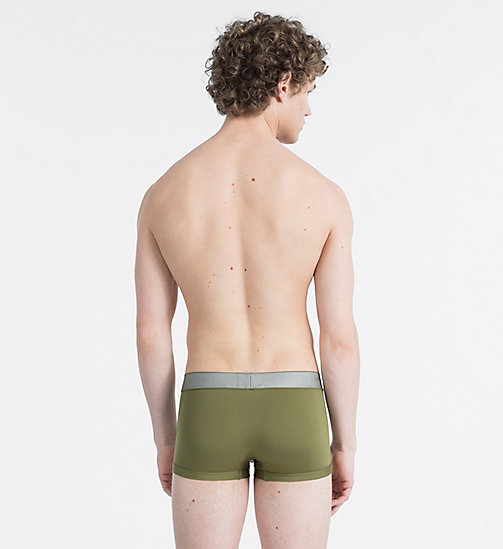 CALVINKLEIN Low Rise Trunks - Customized Stretch - MARTINI OLIVE - CALVIN KLEIN NEW FOR MEN - detail image 1