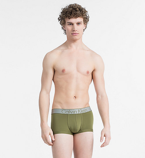 CALVINKLEIN Low Rise Trunks - Customized Stretch - MARTINI OLIVE - CALVIN KLEIN NEW FOR MEN - main image