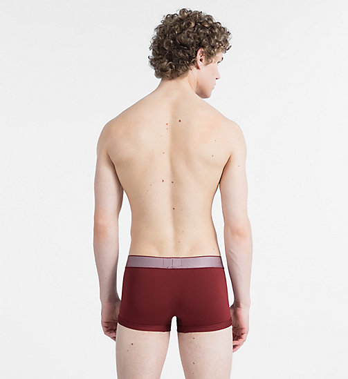 CALVINKLEIN Low Rise Trunks - Customized Stretch - FIRE BRICK - CALVIN KLEIN NEW FOR MEN - detail image 1