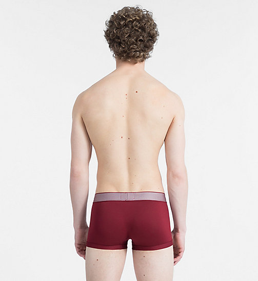 CALVINKLEIN Low Rise Trunks - Customized Stretch - BIKING RED - CALVIN KLEIN NEW FOR MEN - detail image 1