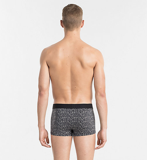 CALVINKLEIN Low Rise Trunks - CK Black - TONAL GRID PRINT BLACK - CALVIN KLEIN UNDERWEAR - detail image 1