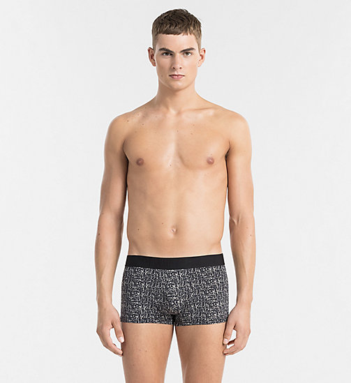 CALVINKLEIN Low Rise Trunks - CK Black - TONAL GRID PRINT BLACK - CALVIN KLEIN UNDERWEAR - main image