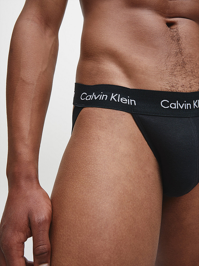 CALVIN KLEIN 2 Pack Jock Strap - Cotton Stretch - WHITE - CALVIN KLEIN UNDERWEAR - detail image 2