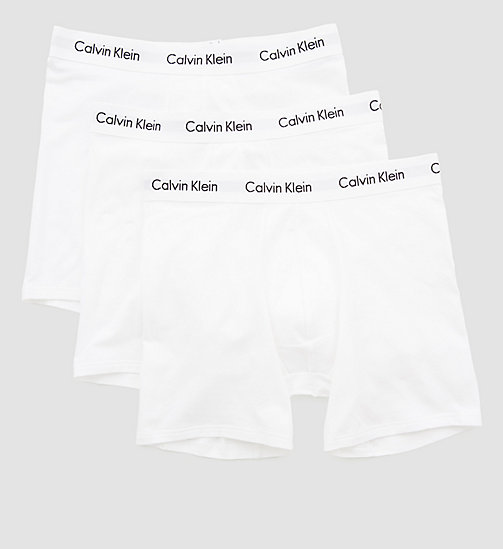 CALVINKLEIN 3 Pack Boxers - Cotton Stretch - WHITE - CALVIN KLEIN MULTIPACKS - detail image 1