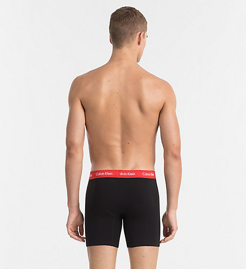 CALVINKLEIN 3 Pack Boxers - Cotton Stretch - BLACK W MUSCARI BLUE / MAGNET / RED HEAT - CALVIN KLEIN MULTIPACKS - detail image 1
