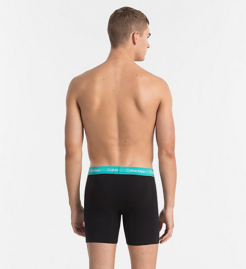 CALVINKLEIN 3 Pack Boxers - Cotton Stretch - BLACK W MAGESTIC / CATALAN / PLACID WB - CALVIN KLEIN MULTIPACKS - detail image 1