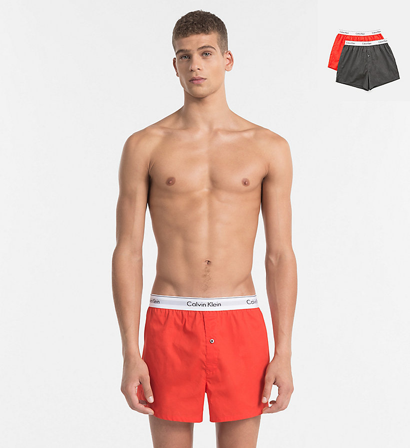 CALVINKLEIN 2er-Pack Slim Fit Boxershorts - Modern Cotton - BLACK / GREY HEATHER - CALVIN KLEIN Unterwäsche - main image