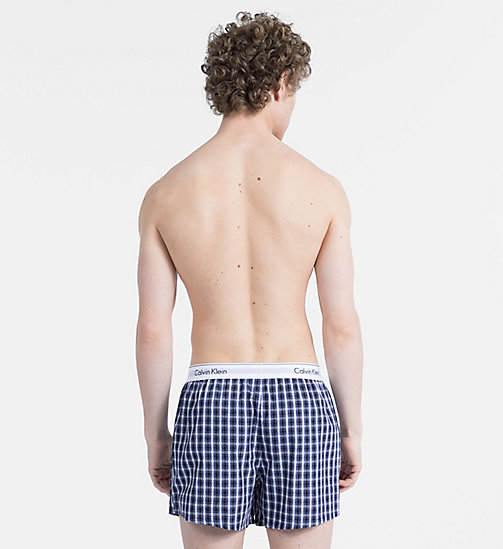 CALVINKLEIN 2 Pack Slim Fit Boxers - Modern Cotton - STAN PLAID PLACID H/ WUXI 2 H GREY - CALVIN KLEIN ALL GIFTS - detail image 1