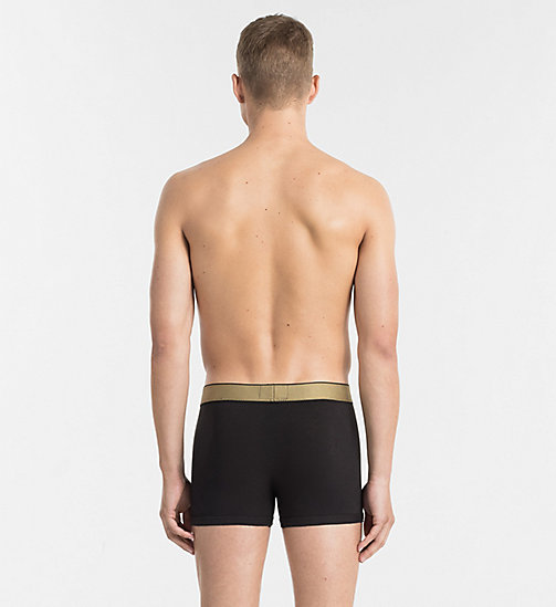 CALVINKLEIN Trunks - Customized Stretch - BLACK W GOLD WB - CALVIN KLEIN UNDERWEAR - detail image 1
