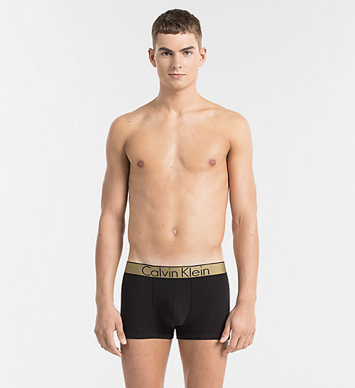 CALVINKLEIN Trunks - Customized Stretch - BLACK W GOLD WB - CALVIN KLEIN UNDERWEAR - main image