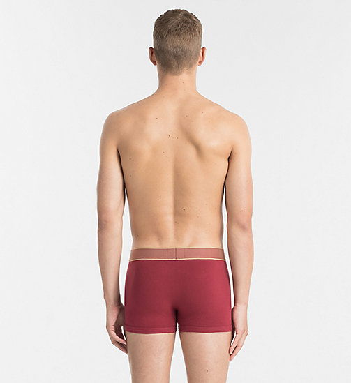 CALVINKLEIN Trunks - Customized Stretch - DYLAN RED W GOLD WB - CALVIN KLEIN UNDERWEAR - detail image 1