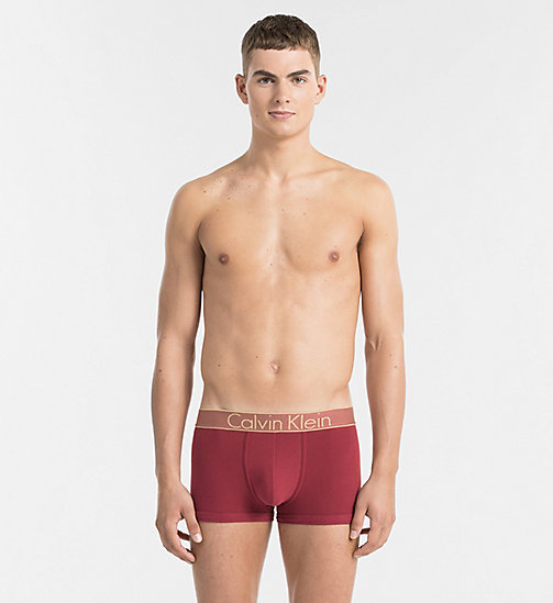 CALVINKLEIN Trunks - Customized Stretch - DYLAN RED W GOLD WB - CALVIN KLEIN UNDERWEAR - main image