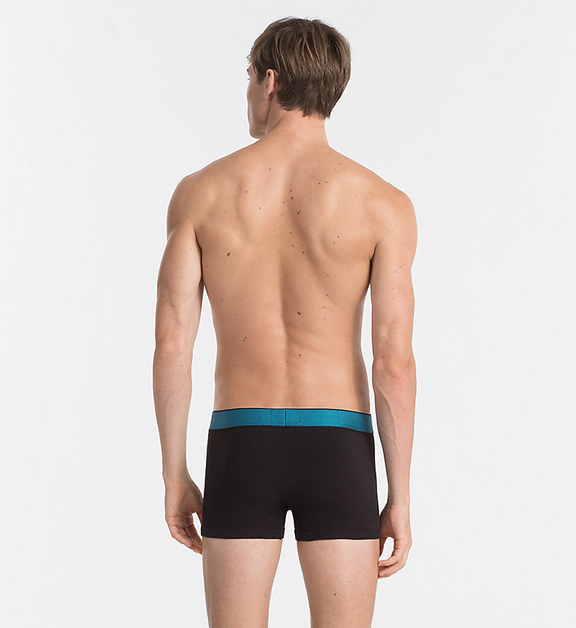 CALVINKLEIN Trunks - Customized Cotton - BLACK W/ ROSEATE WB - CALVIN KLEIN UNDERWEAR - detail image 1