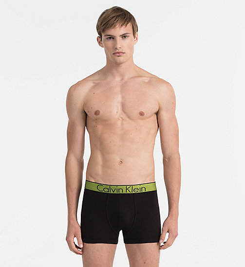 CALVINKLEIN Trunks - Customized Cotton - BLACK W/ REBEL WB - CALVIN KLEIN UNDERWEAR - main image