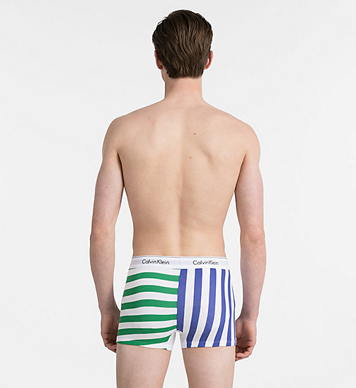 CALVINKLEIN Shorts - Modern Cotton - DB 2 WAY STRIPE PURE CERULEAN - CALVIN KLEIN NEW IN - main image 1