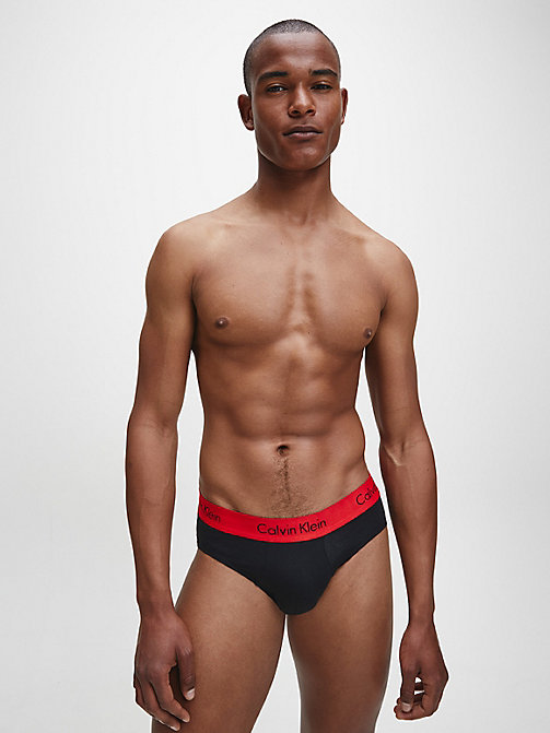 CALVIN KLEIN 2 Pack Hip Briefs - Pro Stretch - BLACK W IMPACT WB - CALVIN KLEIN BRIEFS - detail image 1
