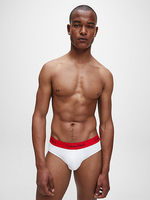 CALVIN KLEIN 2 Pack Hip Briefs - Pro Stretch - WHITE W IMPACT WB - CALVIN KLEIN BRIEFS - detail image 1