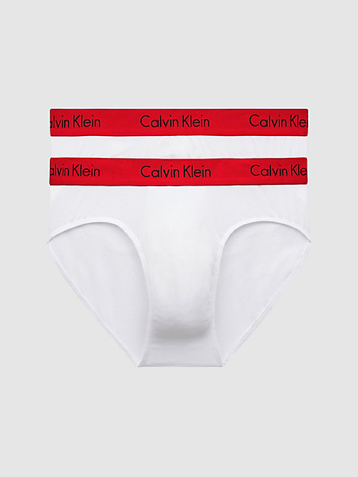 CALVINKLEIN 2 Pack Hip Briefs - Pro Stretch - WHITE W IMPACT WB - CALVIN KLEIN BRIEFS - main image