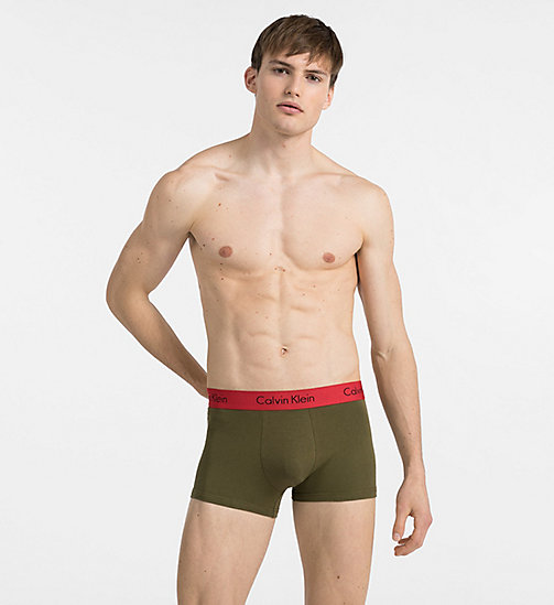 CALVINKLEIN 2 Pack Trunks - Pro Stretch - BLACK / RIFLE GREEN W IMPACT WB - CALVIN KLEIN NEW IN - main image