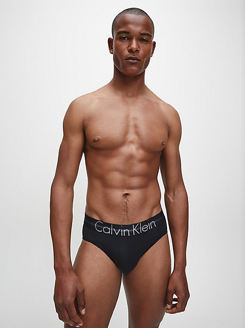 CALVIN KLEIN Hip Briefs - Focused Fit - BLACK - CALVIN KLEIN UNDERWEAR - detail image 1