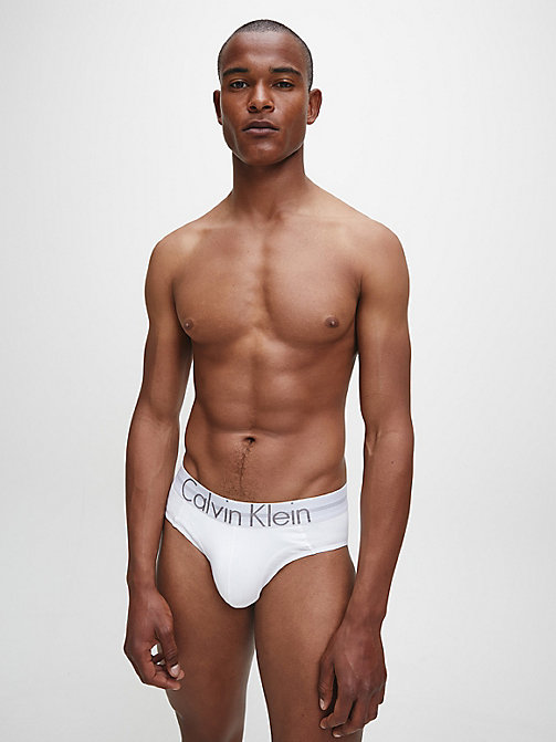 CALVIN KLEIN Hip Briefs - Focused Fit - WHITE - CALVIN KLEIN BRIEFS - detail image 1