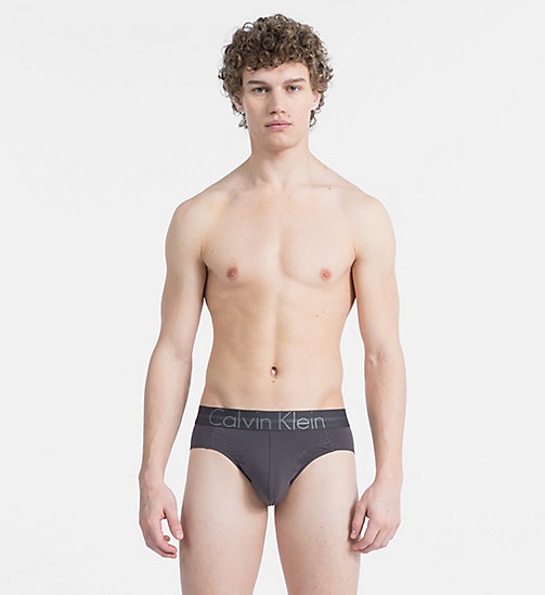 CALVIN KLEIN Hip Briefs - Focused Fit - PAVEMENT - CALVIN KLEIN UNDERWEAR - main image
