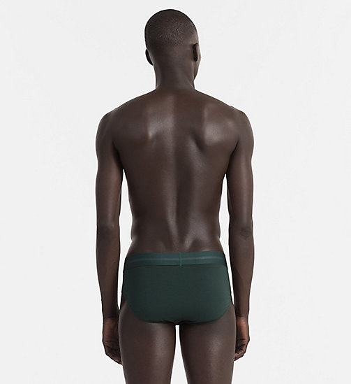 CALVINKLEIN Hip Briefs - Focused Fit - INK GREEN - CALVIN KLEIN BRIEFS - detail image 1