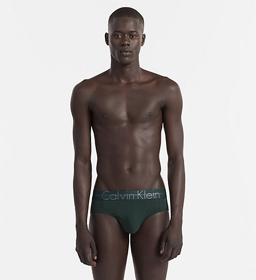 CALVINKLEIN Hip Briefs - Focused Fit - INK GREEN - CALVIN KLEIN BRIEFS - main image