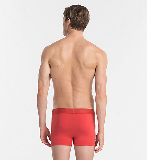 CALVINKLEIN Trunks - Focused Fit - RED HEAT -  Bright Colours - detail image 1