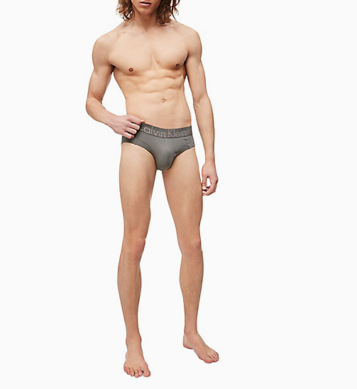 CALVIN KLEIN Hip Briefs - Focused Fit - GREY SKY - CALVIN KLEIN UNDERWEAR - detail image 1