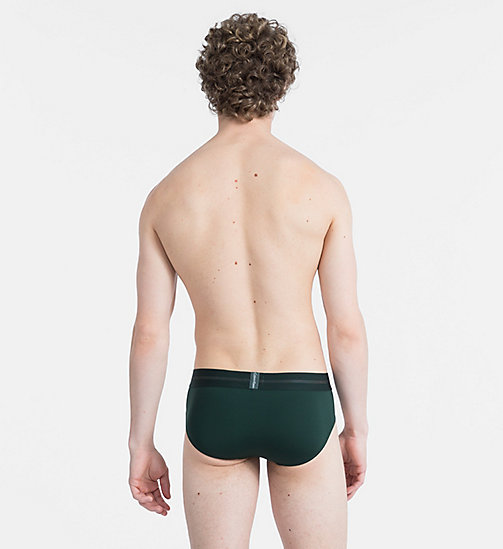 CALVINKLEIN Hip Briefs - Focused Fit - SCARAB - CALVIN KLEIN UNDERWEAR - detail image 1