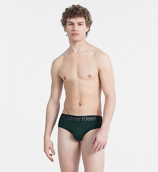 CALVIN KLEIN Hip Briefs - Focused Fit - SCARAB - CALVIN KLEIN UNDERWEAR - main image